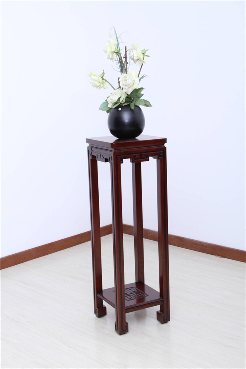 客厅实木家具 环保实木花架